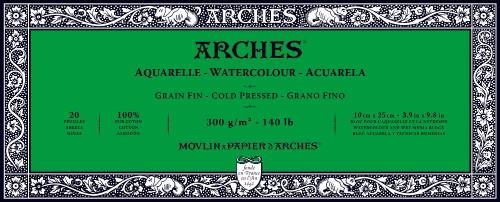 Akvarellblock Arches CP 300g 10x25 cm 20 ark.