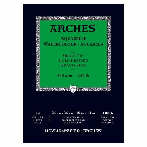 Akvarellblock Arches CP 300g 26x36cm 12ark. (3F)
