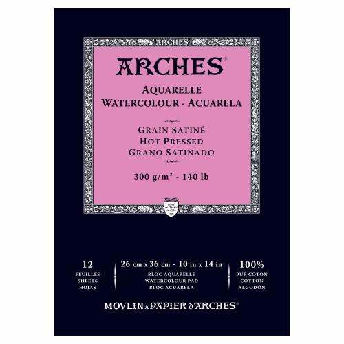 Akvarellblock Arches HP 300g 26x36cm 12ark. (3F)