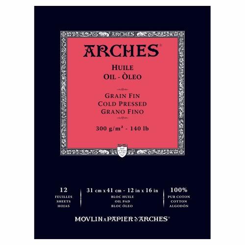 Oljemålningsblock Arches Oil CP 300g 31x41 cm 12ark. (3F)