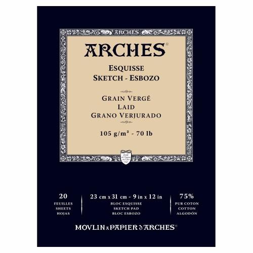 Skissblock Arches Sketch 105g 23x31cm 20 ark. (3F)