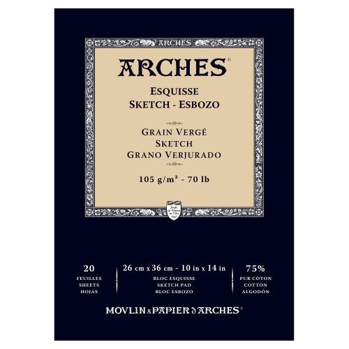 Skissblock Arches Sketch 105g 26x36cm 20 ark. (3F)