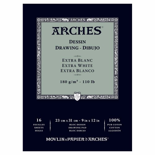 Ritblock Arches Drawing 180g 23x31 cm 16 ark. (3F)