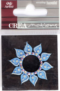 Creamotion Strass flower blue/pearl (6F) Best. vara