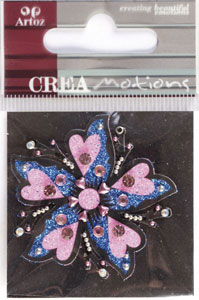 Creamotion Strass flower pink (6F) Best. vara