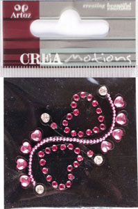 Creamotion Strass 2 hearts pink (6F) Best. vara