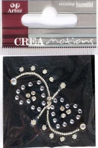 Creamotion Strass 2 hearts white (6F) Best. vara