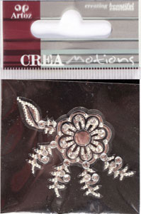 Creamotion Strass flower silver/cristal (6F) Best. vara