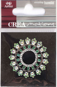 Creamotion Strass circle green / cristal (6F) Best. vara