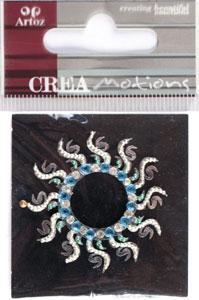 Creamotion Strass sun blue/pearl/cristal (6F) Best. vara