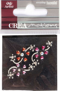 Creamotion Strass flowers pink/pearl (6F) Best. vara