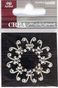 Creamotion Strass flower pearl/cristal (6F) Best. vara