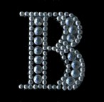 Scrapbooking Strass Monogramm B (6F)