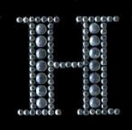 Scrapbooking Strass Monogramm H (6F)