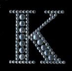Scrapbooking Strass Monogramm K (6F)