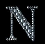 Scrapbooking Strass Monogramm N (6F)