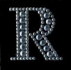 Scrapbooking Strass Monogramm R (6F)