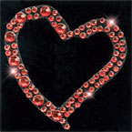 Scrapbooking Strass Monogramm Heart red (6F)