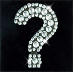 Scrapbooking Strass Monogramm Question mark (6F)
