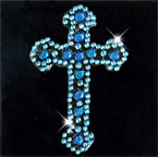Scrapbooking Strass Monogramm Cross blue (6F)