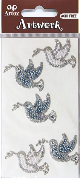 Art-Work: dove blue perl glitter (6F)