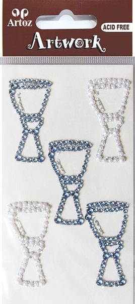 Art-Work: cup blue perl glitter (6F)