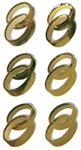 Art-Work:  Double rings gold 556 009 (6F)