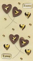 Art-Work:  Heart brown 556 014 (6F)
