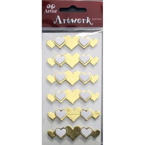 Art-Work:  heart border gold (6F)