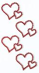 Art-Work:  Dbl. hearts cristalred 557 008 (6F)
