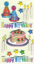 Art-Work:  Birthday cake+candles 557 013 (6F)