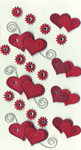 Art-Work:  Doublehearts+flowers 557 015 (6F)