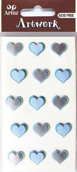 Art-Work: small hearts blue (6F)
