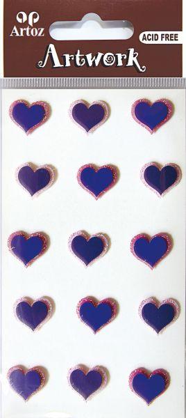 Art-Work: small hearts purple (6F)