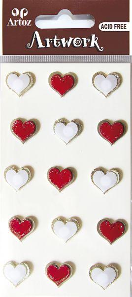 Art-Work: small hearts red (6F) UTGÅR