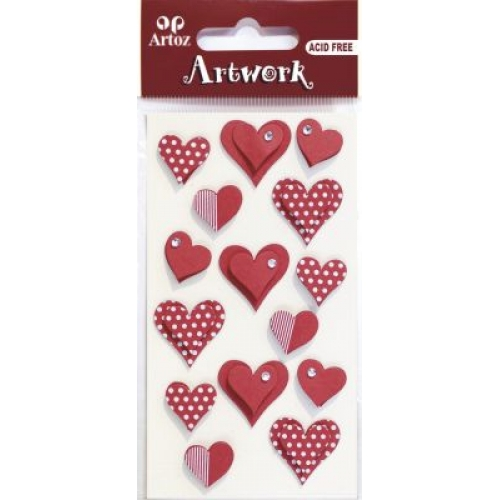 Art-Work: Hearts Red/white (6F)