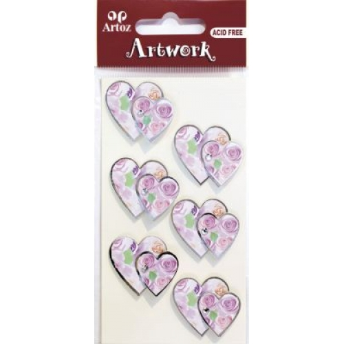 Art-Work: Double silver hearts (6F)