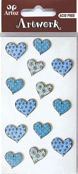 Art-Work: dotted Heard blue (6F)