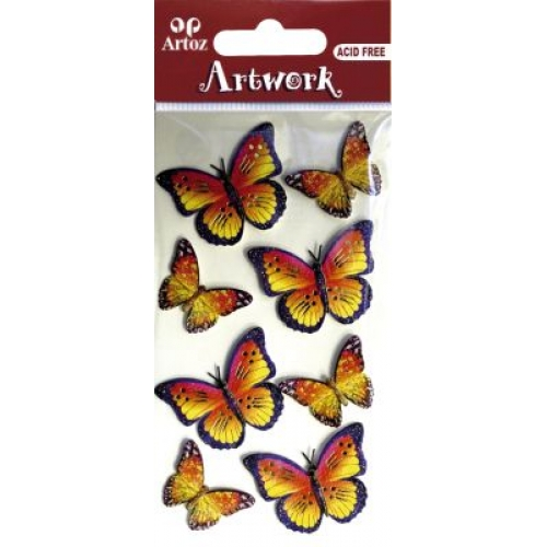Art-Work:  butterfly colorful (6F)