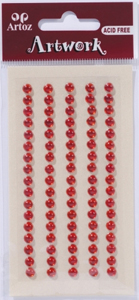 Art-Work: Strass round red 5mm (6F)