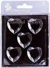 HomeDeco Diamond Sticker:hearts  (6F)