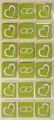 Art-Work XL  Hearts green (6F)