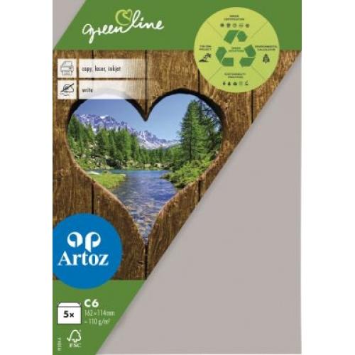 Kuvert Green Line C6 Ofodr. 5-p 104g beech 217 (12F) Best. vara