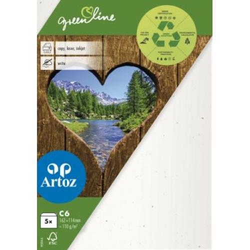 Kuvert Green Line C6 Ofodr. 5-p 118g tortilla 242 (12F) Best. vara