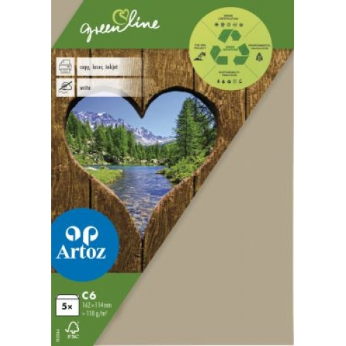 Kuvert Green Line C6 Ofodr. 5-p 118g desert 584 (12F) Best. vara