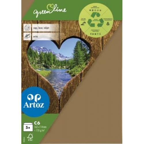 Kuvert Green Line C6 Ofodr. 5-p 104g grocer kraft 606 (12F) Best. vara