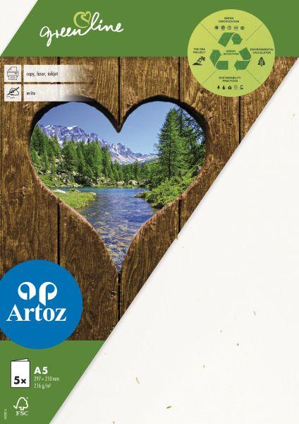 Dubbelt Kort Green Line A5 5-p 216g tortilla 242 (12F) Best. vara