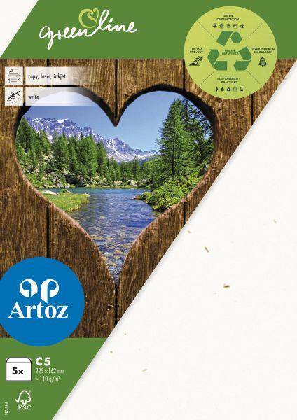 Kuvert Green Line C5 Ofodr. 5-p 118g tortilla 242 (12F) Best. vara