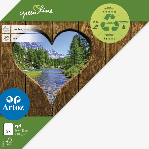 Kuvert Green Line 160x160 Ofodr. 5-p 118g birch 211 (12F) Best. vara