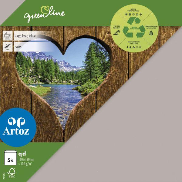 Kuvert Green Line 160x160 Ofodr. 5-p 104g beech 217 (12F) Best. vara